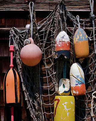 Photograph - Lobster Buoys II - Rockport by David Gordon