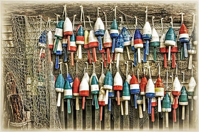 Photograph - Lobster Buoys On A Shed by Carolyn Derstine