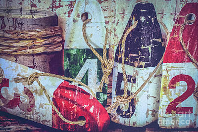 New England Photograph - Lobster Buoys1 by Claudia M Photography