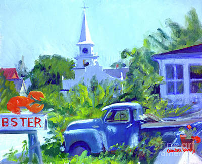 Painting - Lobster Day Blues by Candace Lovely