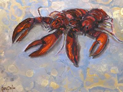 Painting - Lobster Find by Gary Partin