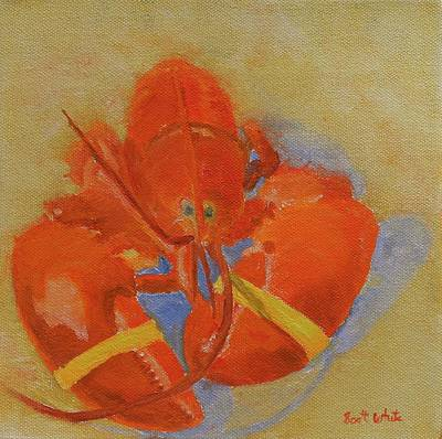 Painting - Lobster In Red by Scott W White