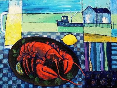 Painting - Lobster by Mikhail Zarovny