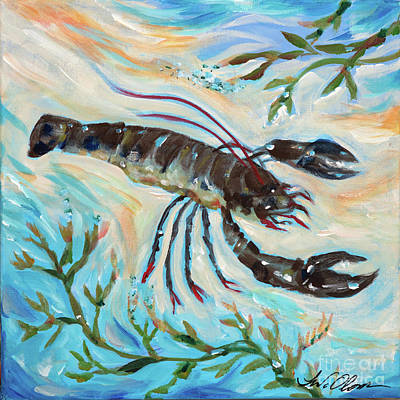 Painting - Lobster On The Bottom by Linda Olsen