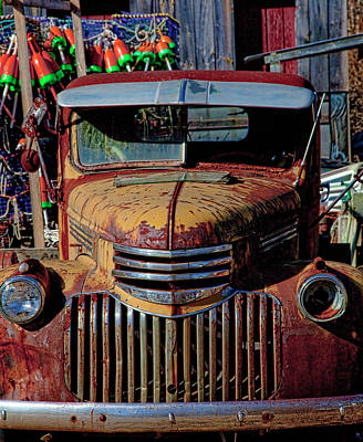 Photograph - Lobster Pots And Chevys by Gary Shepard
