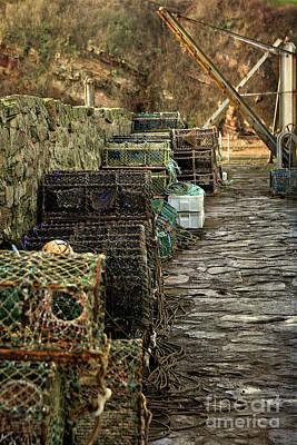 Photograph - Lobster Pots At Crail Harbour by Liz Alderdice