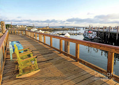 Photograph - Lobster Pots Chairs Plymouth Ma by Janice Drew