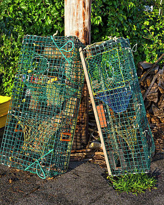 Photograph - Lobster Pots - Perkins Cove - Maine by Steven Ralser