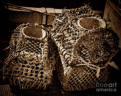 Photograph - Lobster Pots  by Baggieoldboy