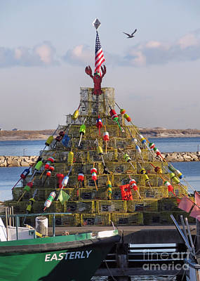 Photograph - Lobster Pots Tree 2016 by Janice Drew