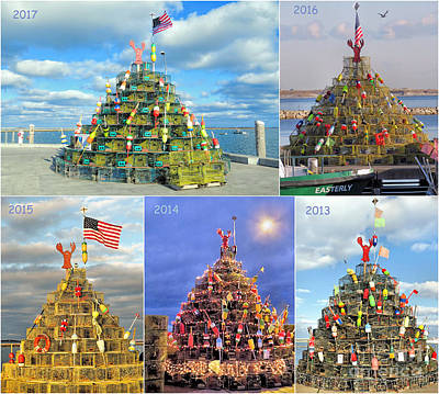 Photograph - Lobster Pots Tree Collage 2013 To 2017 by Janice Drew