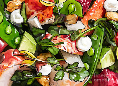 Painting - Lobster-salad by Tim Gilliland