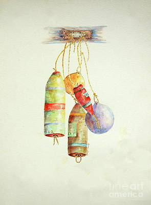 Painting - Lobster Sea Floats X 5 by Tamyra Crossley