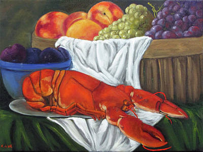 Painting - Lobster Still Life by Catherine Link