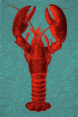 Mixed Media - Lobster by Susan Lafleur