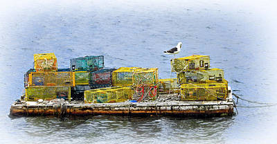 Photograph - Lobster Trap Barge by Carolyn Derstine