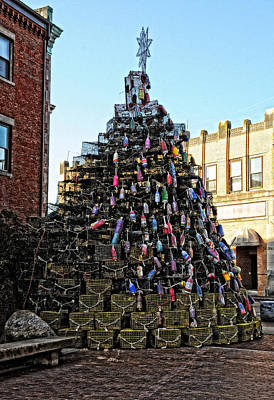 Photograph - Lobster Trap Christmas Tree by Mike Martin