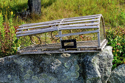 Photograph - Lobster Trap In Maine by Marilyn Burton