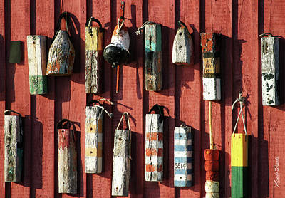 Photograph - Lobster Trap Markers Motif Rockport Massachusetts by Michelle Wiarda-Constantine
