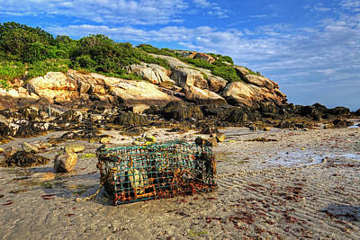 Photograph - Lobster Trap On Salt Island Good Harbor Beach Gloucester Ma by Toby McGuire