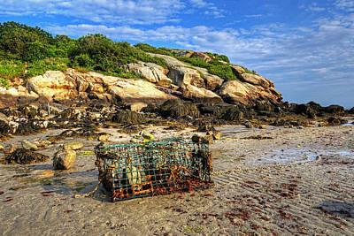 Photograph - Lobster Trap On Salt Island Good Harbor Beach Gloucester Ma by Toby McGuire