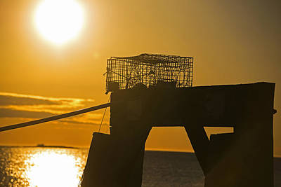 Photograph - Lobster Trap Sitting Atop The Salem Willows Pier Salem Ma by Toby McGuire