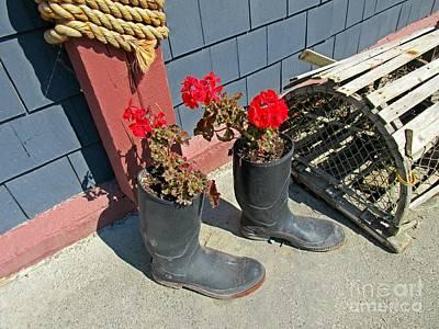 Still Life With Flowers Mixed Media - Lobster Trap Still Life by John Malone