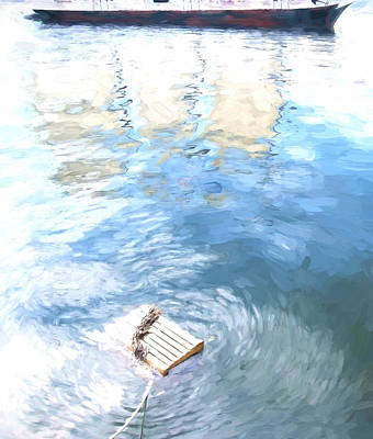 Maine Coast Mixed Media - Lobster Trap - Vertical by Gary Guthrie