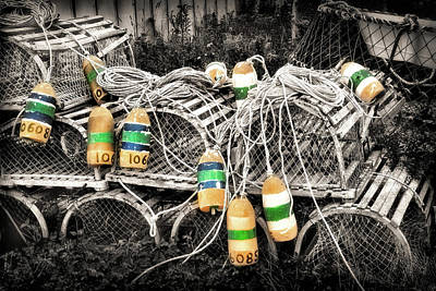 Photograph - Lobster Traps And Floats by Carolyn Derstine