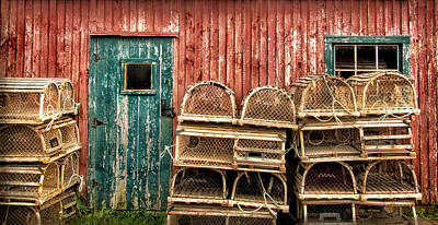 Photograph - Lobster Traps And Old Shed by Carolyn Derstine