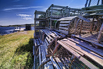 Clous Photograph - Lobster Traps In The Sun by Sven Brogren