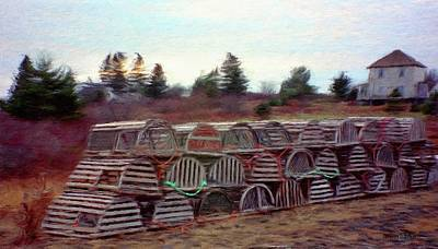 Jeff Painting - Lobster Traps by Jeff Kolker