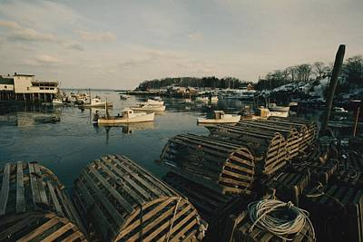 Monhegan Photograph - Lobster Traps by Luis Marden