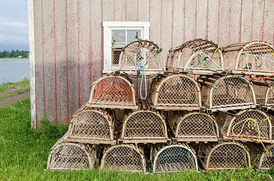 Photograph - Lobster Traps, Pei by Rob Huntley