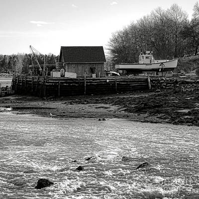 White River Scene Photograph - Lobstering In Maine by Olivier Le Queinec
