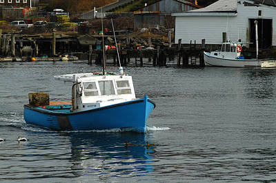 Photograph - Lobsterman Returns by Mike Martin