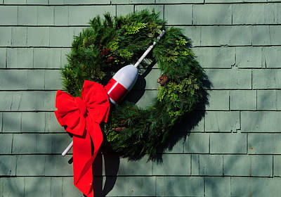 Photograph - Lobsterman's Christmas Wreath by Mike Martin