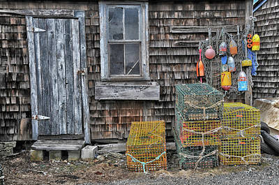 Photograph - Lobsterman's Shanty by Mike Martin