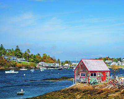 Lobstermen's Shack Art Print