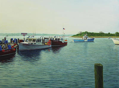 Lobsters And Crabs Art Print by Bruce Dumas