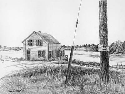 Old Maine Houses Drawing - Lobsters For Sale by Dominic White