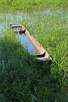 Photograph - Local Boat In The Pantanal by Nareeta Martin