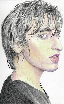 Vermont Drawing - Local Boy - Work In Progress by Lorraine Zaloom