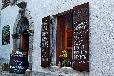 Vino Photograph - Local Croatian Shop by Stuart Litoff