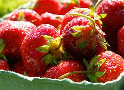 Photograph - Local Organic Strawberries by Polly Castor