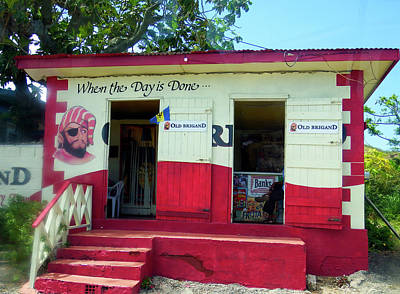 Photograph - Local Rum Shop, Barbados by Kurt Van Wagner