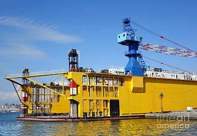 Photograph - Local Shipyard With Crane by Yali Shi