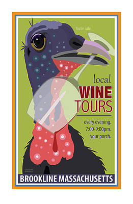 Digital Art - Local Wine Tours by Caroline Barnes
