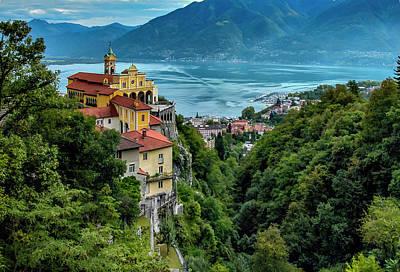 Art Print featuring the photograph Locarno Overview by Alan Toepfer