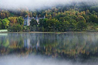 Photograph - Loch Achray Morning Autumn Reflections by Stephen Taylor